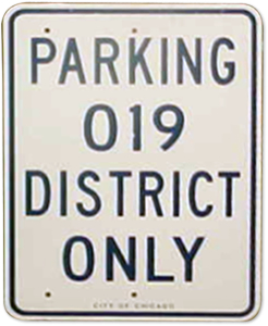 Police Parking Sign Chicago