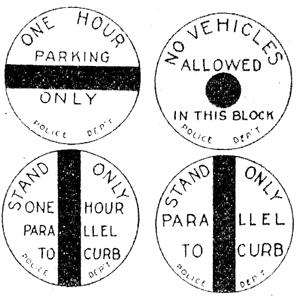 Circular Parking Signs 1920