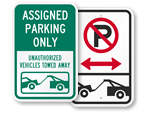 All Tow Away Zone Signs