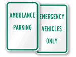 Ambulance Reserved Parking Signs - by Title