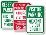 Church Visitor Sign
