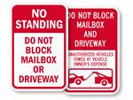 Do Not Block Mailbox Signs