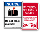 Do Not Block Mailbox