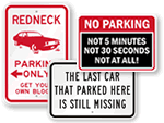 Humorous Parking Signs