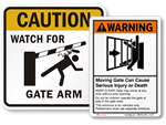 Gate Warning Signs