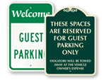 Guest Parking Signs