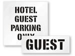 Guest Parking Stencils