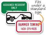Mini Tow-Away Zone Signs