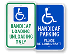 More Handicapped Parking Signs