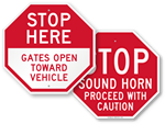 Parking Lot Gate Signs