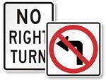 No Turn Signs