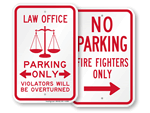Novelty Parking Signs - by Profession