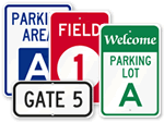 School Parking Lot Signs