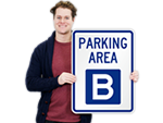 Parking Lot Area Signs