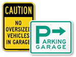Parking Garage Signs