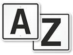 Parking Lot Letter Signs