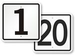 Parking Lot Number Signs