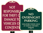 Decorative Parking Lot Signs