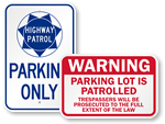 Parking Patrol Signs