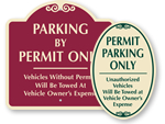 Decorative Parking Permit Signs
