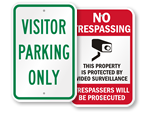 Low Cost Plastic Signs