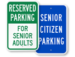 Senior Citizen Parking Signs