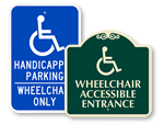 Wheelchair Access Signs