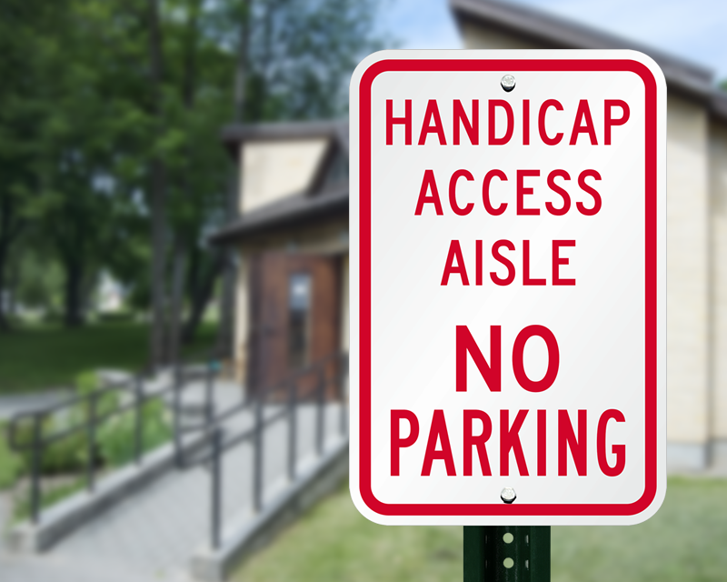 Access Ramp Signs Wheelchair Ramp Signs
