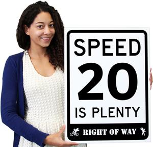 20 is Plenty Signs