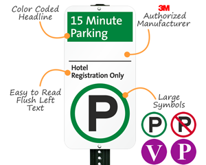Anatomy of a modern parking sign