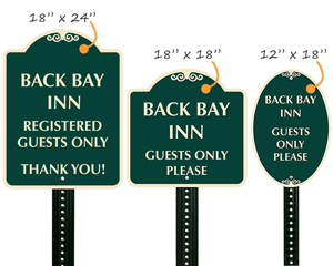 Custom designer signs in 3 sizes