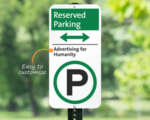 Custom reserved iParking sign