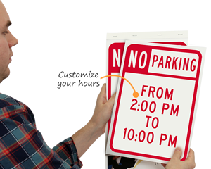 Easy to tear out signs from handy SignBook