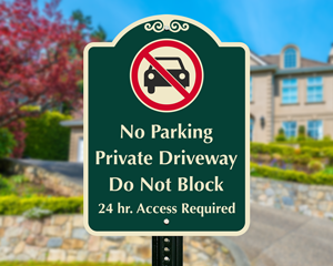 Do not block driveway sign