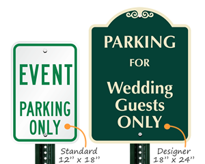 Event parking signs