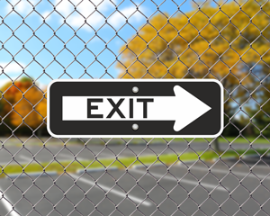 Exit sign for parking lot