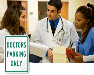 Doctor Parking Signs