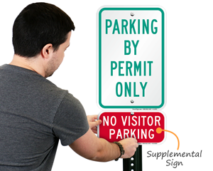Parking by permit only signs