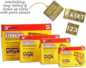 Interlocking Stencil with Paint Solvent