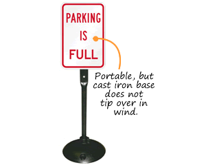 Portable Parking Lot Full Signs
