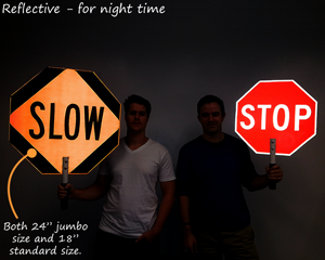 Reflective stop signs - hand held