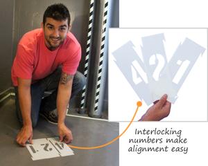 Interlocking Stencil Number & Letter Kits