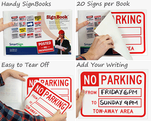 Temporary Parking Sign Books
