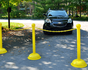 Traffic control stanchions