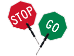 Stop - Go Double Sided Sign