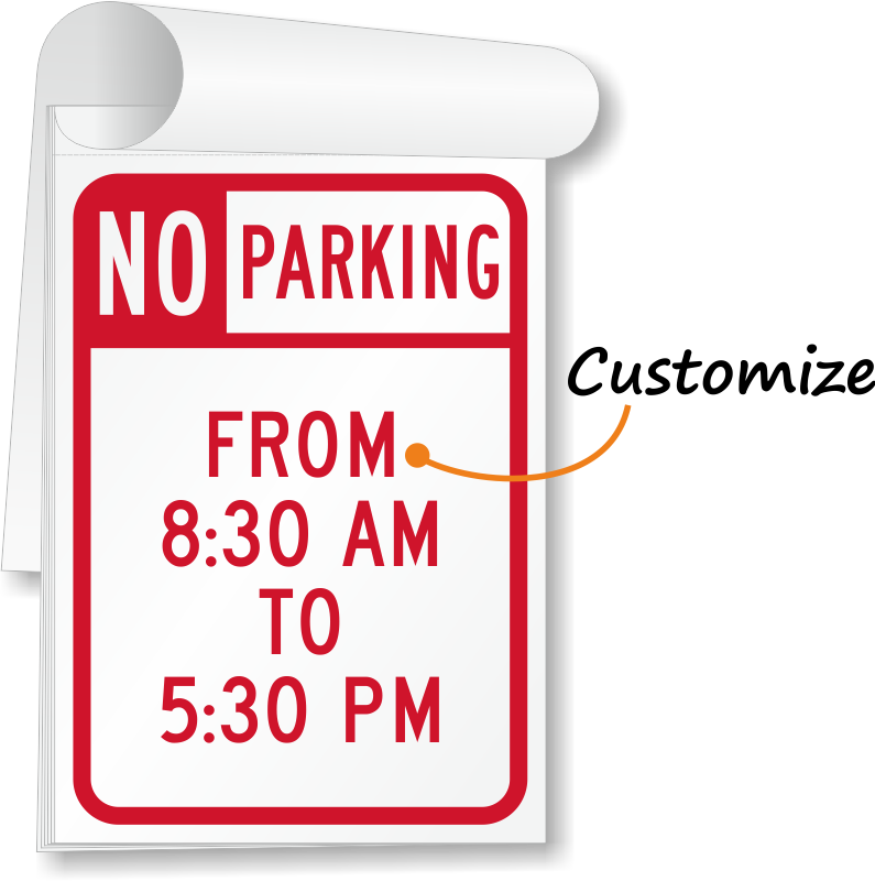 temporary no parking signs free shipping