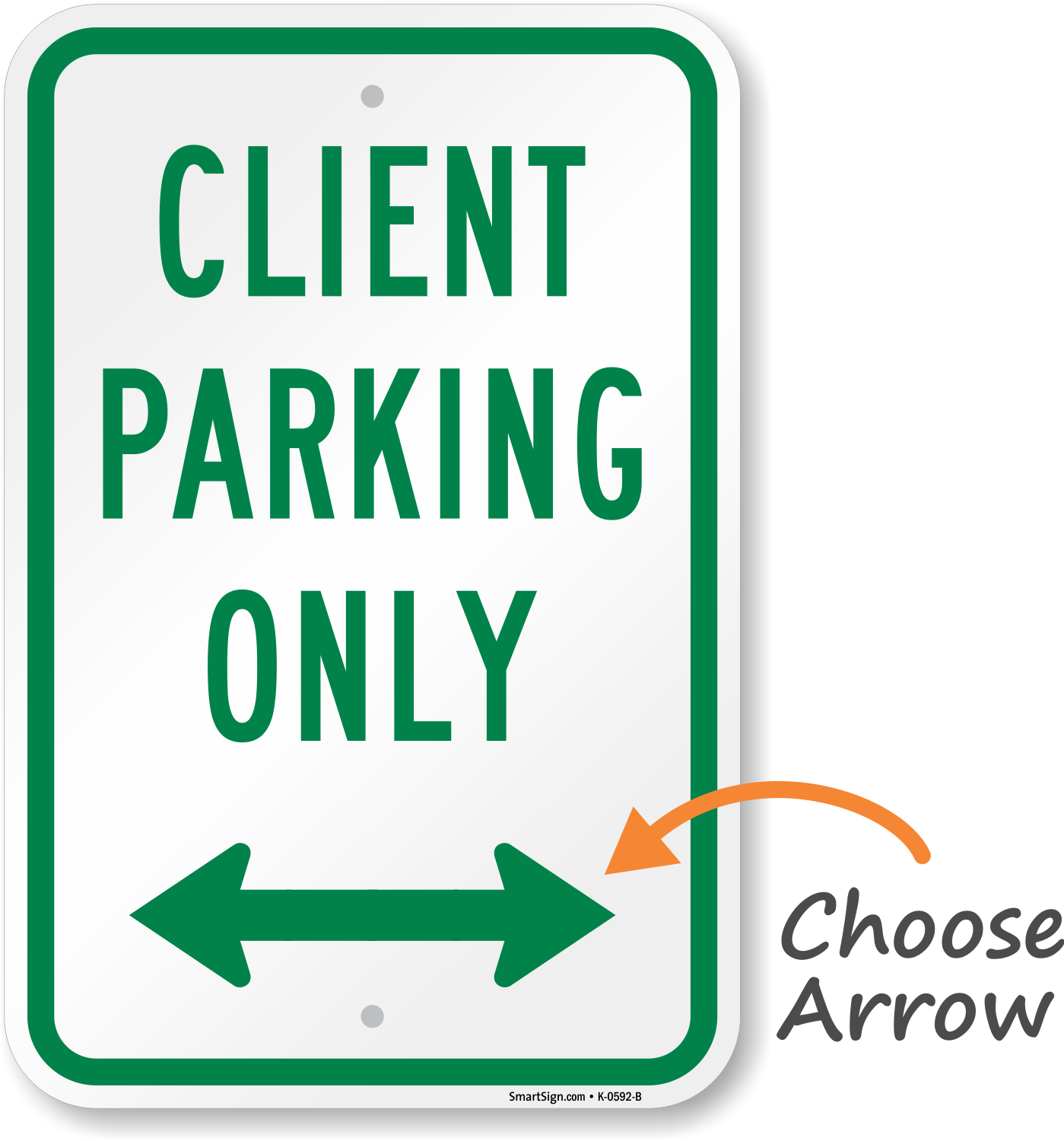Client Parking Signs | Free Shipping
