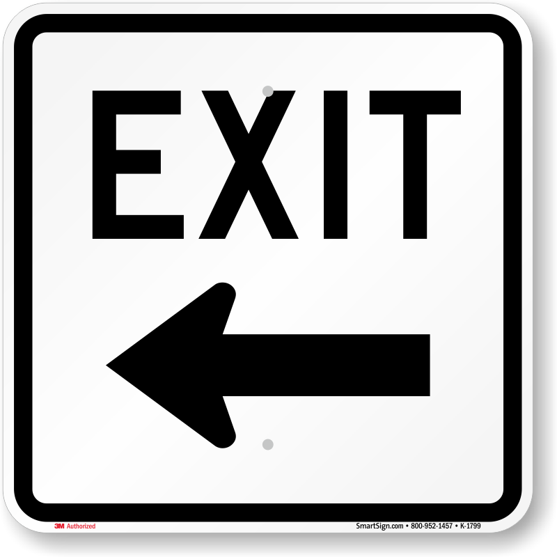 Exit Only Signs Amp Exit Parking Lot Signs