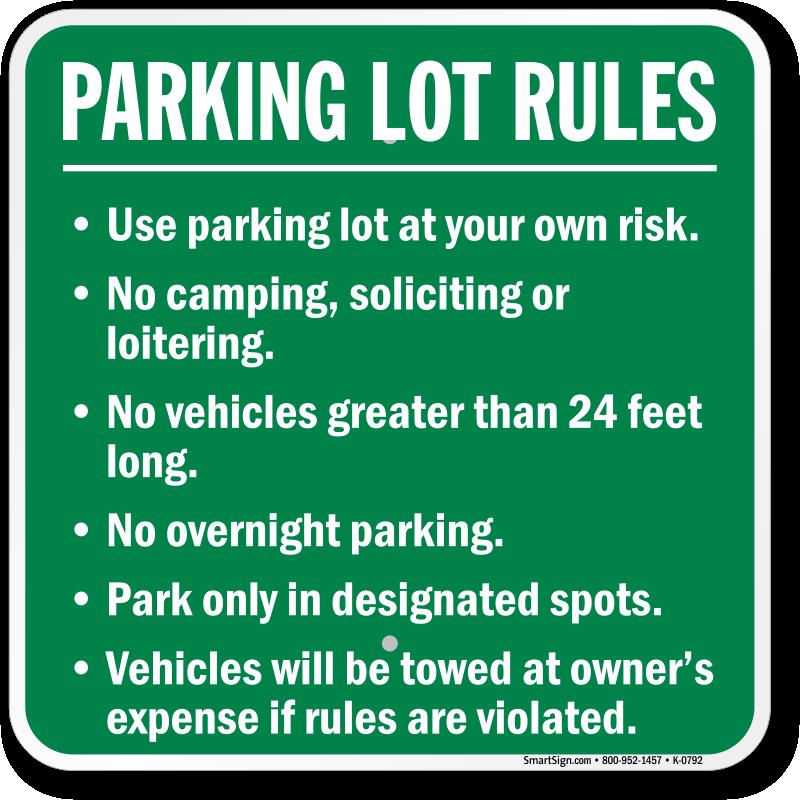 Car Parking Fine Rules