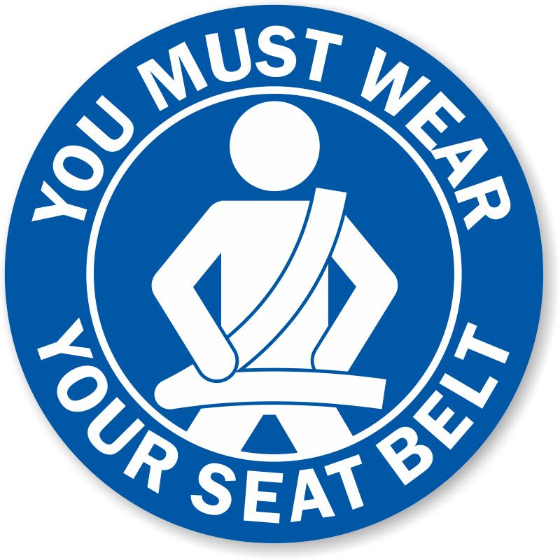Seat Belt Signs Amp Labels Ship For Free From Myparkingsign